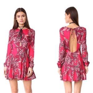 MINKPINK Femme Fatale Open Back Long Sleeve Dress